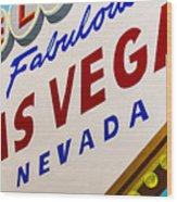 Vegas Tribute Wood Print