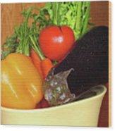 Vegetable Bowl Wood Print