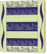 Vegetable Pattern Wood Print