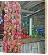 Vegetable Stand 2 Wood Print