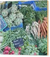 Vegetables At German Market Wood Print