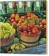 Vegetables Wood Print
