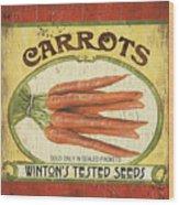 Veggie Seed Pack 4 Wood Print