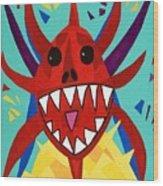 Vegigante Red Wood Print