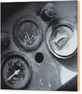 Vehicle Dials In Dust Wood Print
