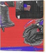 Vehicle Liberty Bell Paul Revere Flag Bicentennial Of Constitution Tucson Arizona 1987-2015 Wood Print