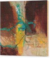 Vein Turquoise Wood Print