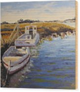 Veldrift Boats Wood Print by Yvonne Ankerman