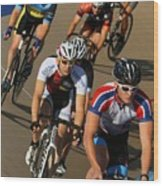 Veledrone Racing Wood Print