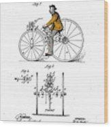 Velocipede 1882 Wood Print