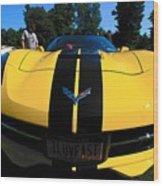Velocity Yellow Wood Print