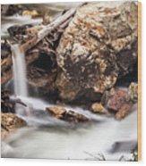 Velvet Falls - Rocky Mountain Stream Wood Print