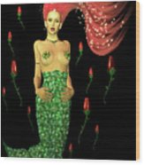 Velvet Mermaid Wood Print