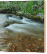 Velvet River Wood Print