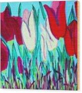 Velvet Tulips Wood Print