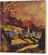 Vencimont Village Ardennes  Wood Print