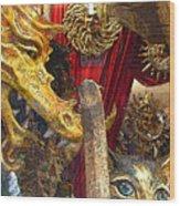 Venetian Animal Masks Wood Print