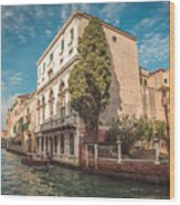 Venetian Architecture And Sky - Venice, Italy Wood Print