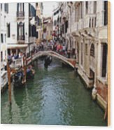 Venetian Bridge Wood Print