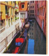 Venetian Canal Wood Print by Jeff Kolker
