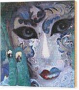 venetian carneval mask I Wood Print