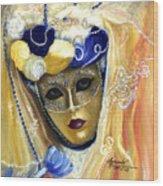 venetian carneval mask V Wood Print