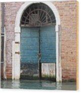 Venetian Door Wood Print by Italian Art