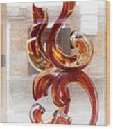 Venetian Glass Style Wood Print