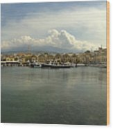 Venetian Harbour Hania Wood Print