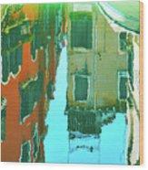 Venetian Mirror - Venice In Water Reflections Wood Print