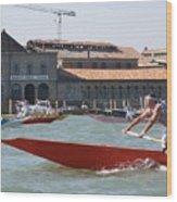 Venetian Rowing Racers Wood Print