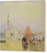 Venetian Scene, 19th Century Wood Print