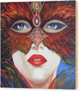 Venetian Tigress Wood Print