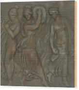 Venetian Water Bearer's Wood Print