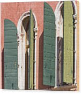 Venetian Windows Wood Print