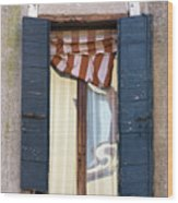 Venetian Windows Shutter Wood Print