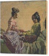 Venetian Women Wood Print