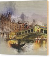 Venezia, Canal Grande Wood Print