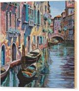 Venezia In Rosa Wood Print