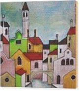 Venezia Scorcio Wood Print