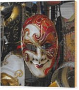 Venezian Masks Wood Print