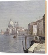 Venice - View Of Campo Della Carita Looking Towards The Dome Of The Salute Wood Print
