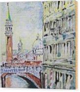 Venice 7-2-15 Wood Print by Vladimir Kezerashvili