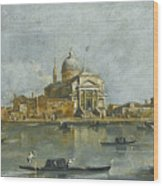 Venice. A View Of The Church Of San Giorgio Maggiore Wood Print