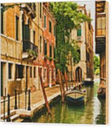 Venice Alley Wood Print