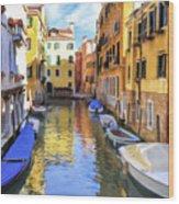 Venice Alleyway 2 Wood Print