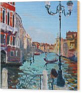Venice  Aspetando Wood Print