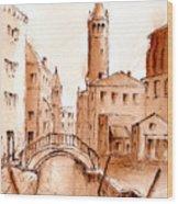 Venice Backwater Wood Print