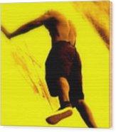 Venice Beach Athlete Wood Print
