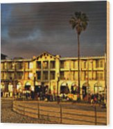 Venice Beach. Golden Sunset Wood Print